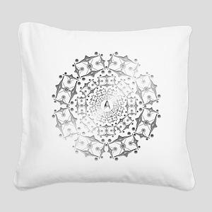 Enterprise Art Silver Square Canvas Pillow