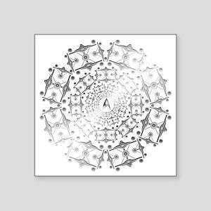 "Enterprise Art Silver Square Sticker 3"" x 3"""