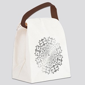 Enterprise Art Silver Canvas Lunch Bag