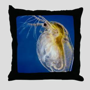 Water flea Throw Pillow