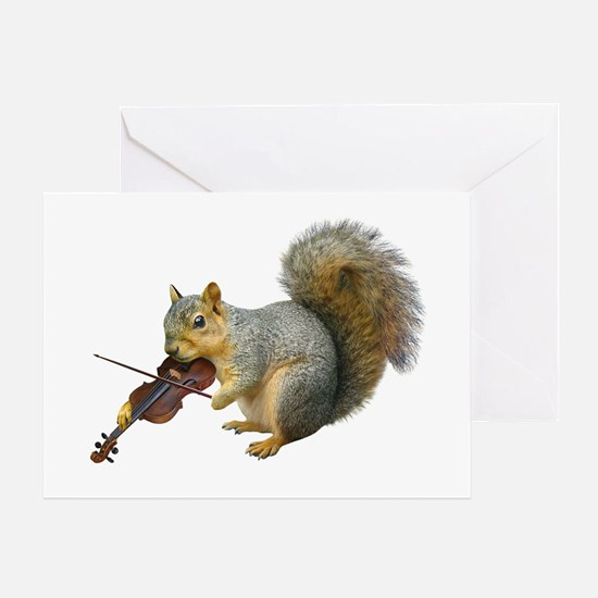 Squirrel Violin Greeting Card