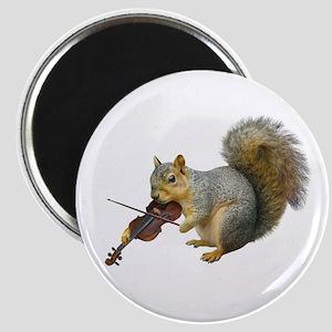 Squirrel Violin Magnet