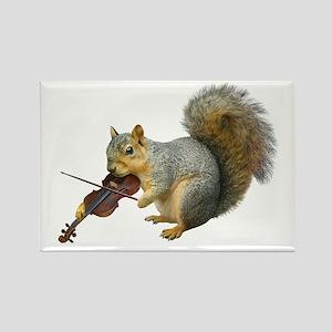 Squirrel Violin Rectangle Magnet