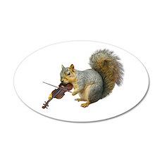 Squirrel Violin Wall Decal