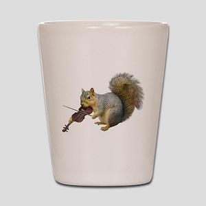 Squirrel Violin Shot Glass