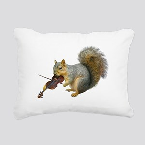 Squirrel Violin Rectangular Canvas Pillow