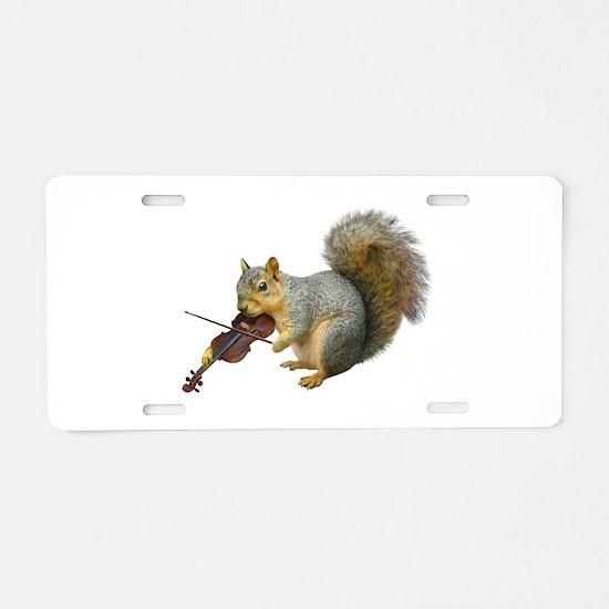 Squirrel Violin Aluminum License Plate