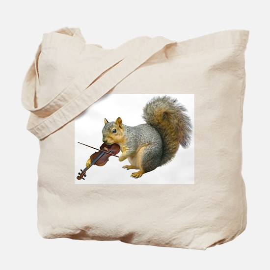 Squirrel Violin Tote Bag