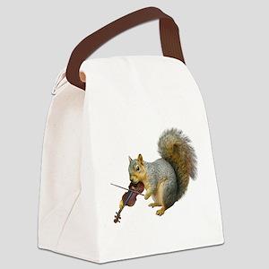 Squirrel Violin Canvas Lunch Bag