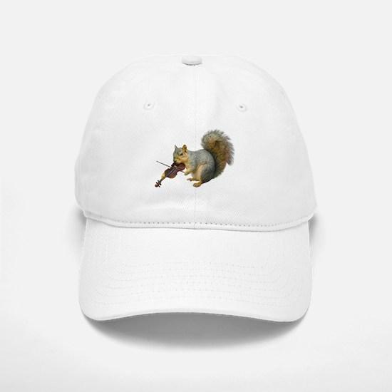 Squirrel Violin Baseball Baseball Cap