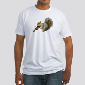 Squirrel Violin Fitted T-Shirt