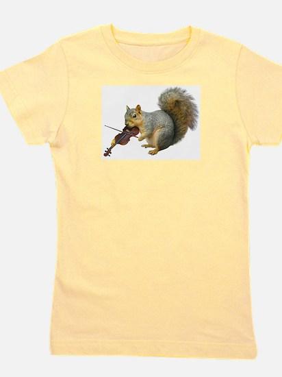 Squirrel Violin Girl's Tee