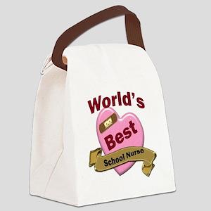Worlds Best School Nurse Canvas Lunch Bag