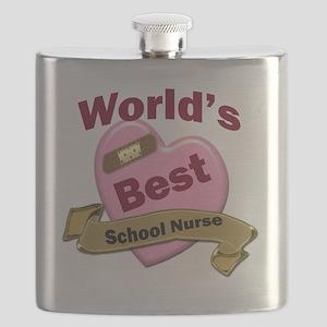 Worlds Best School Nurse Flask