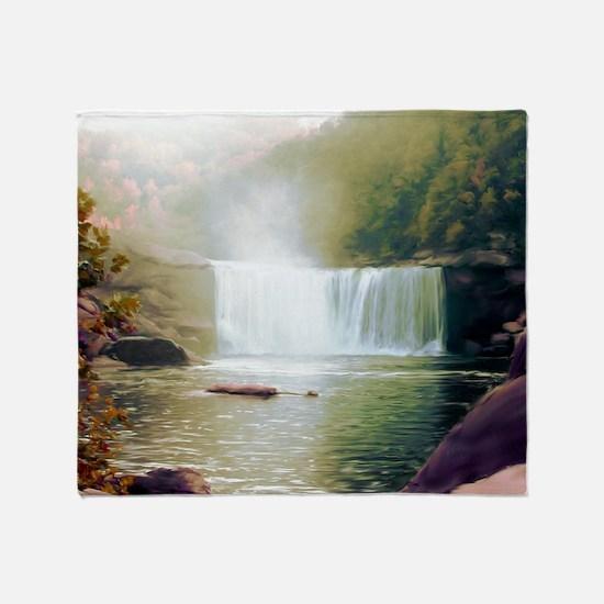 Cumberland Falls Throw Blanket