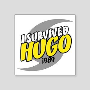"""I Survived Hugo Hurricane S Square Sticker 3"""" x 3"""""""