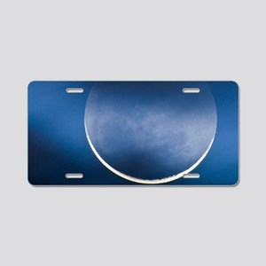 Waning crescent moon Aluminum License Plate