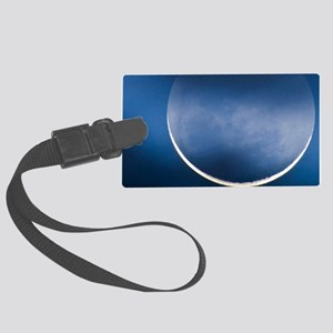Waning crescent moon Large Luggage Tag
