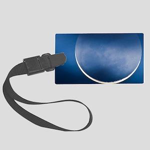 Waning crescent moon Large Luggage Tag