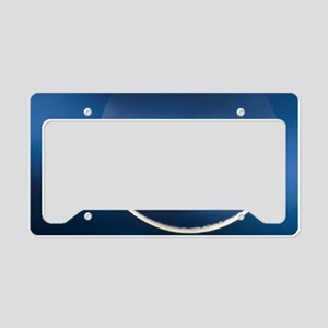 Waning crescent moon License Plate Holder