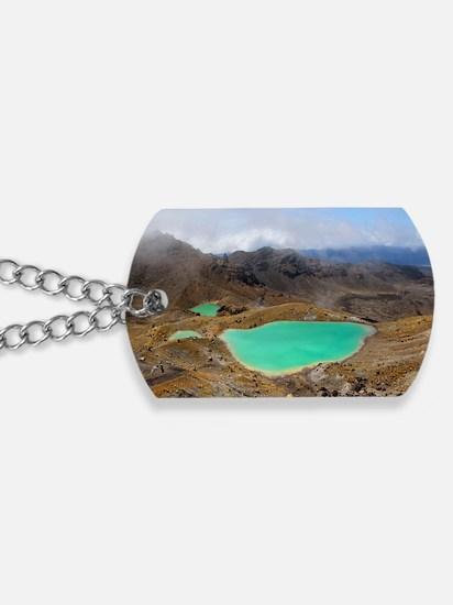 Volcanic lakes, New Zealand Dog Tags