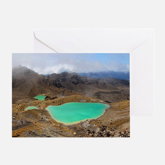 Volcanic lakes, New Zealand Greeting Card