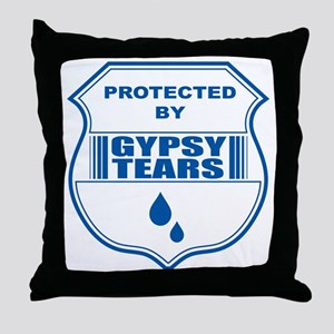 Protected by Gypsy tears t-shirt Throw Pillow