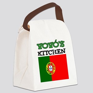 Vovos Kitchen Portuguese Grandma Canvas Lunch Bag