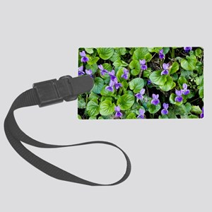 Viola odorata (Sweet Violets) Large Luggage Tag