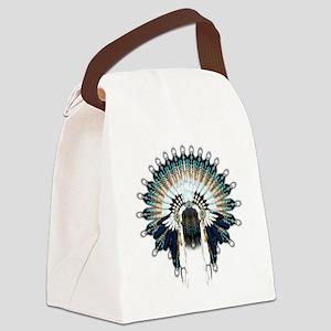 Native War Bonnet 02 Canvas Lunch Bag
