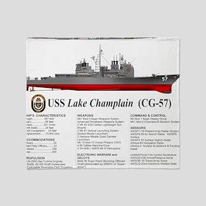 USS Lake Champlain (CG-57) Throw Blanket