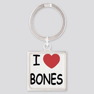 I heart BONES Square Keychain
