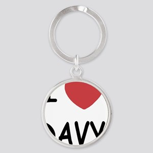 I heart DAVY Round Keychain