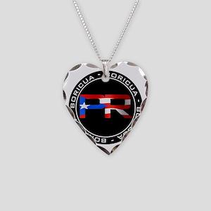 PR BORICUA Necklace Heart Charm