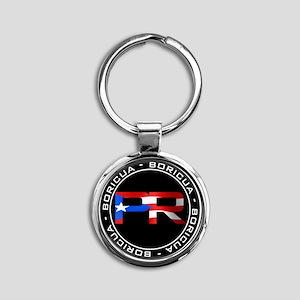 PR BORICUA Round Keychain