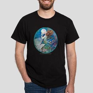 Art Deco Fantasy Pearl Mermaid Dark T-Shirt