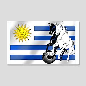 Uruguay Soccer Flag Wall Decal