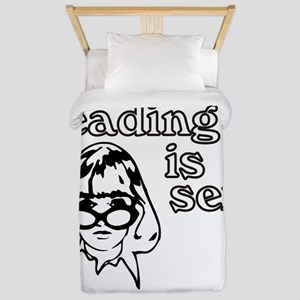 Reading is Sexy Twin Duvet Cover