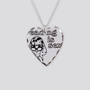 Reading is Sexy Necklace Heart Charm