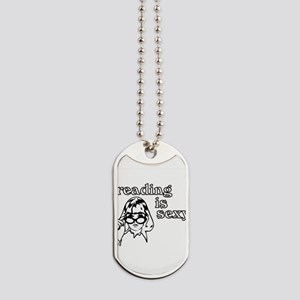 Reading is Sexy Dog Tags