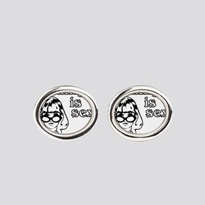 Reading is Sexy Oval Cufflinks