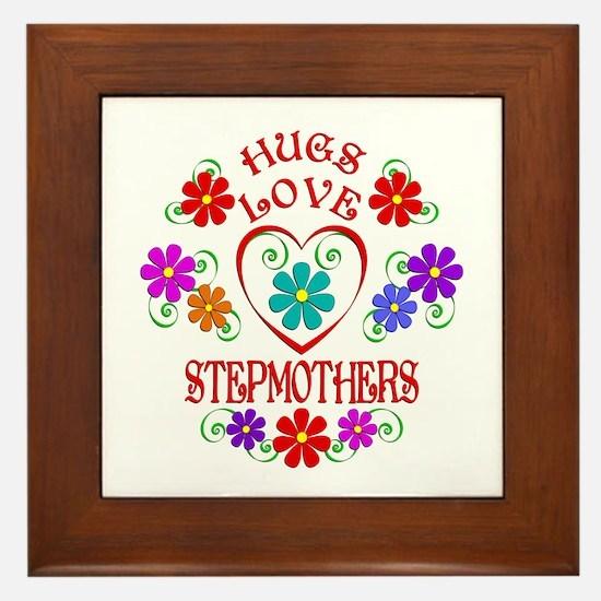 Hugs Love Stepmothers Framed Tile
