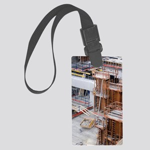 Underpass construction in Paris Large Luggage Tag