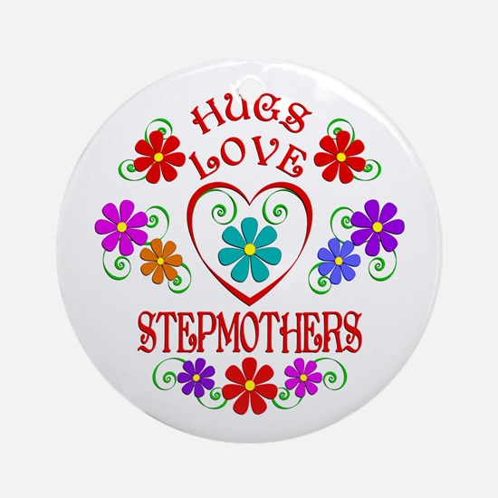 Hugs Love Stepmothers Round Ornament