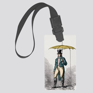 Umbrella fitted with lightning c Large Luggage Tag