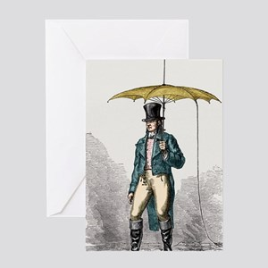 Umbrella fitted with lightning condu Greeting Card