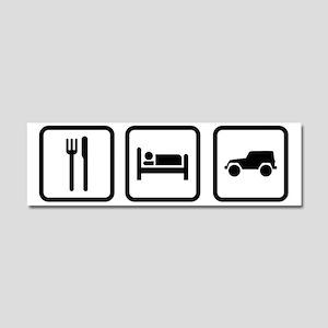 Eat Sleep Jeep Car Magnet 10 x 3