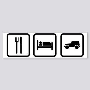 Eat Sleep Jeep Sticker (Bumper)