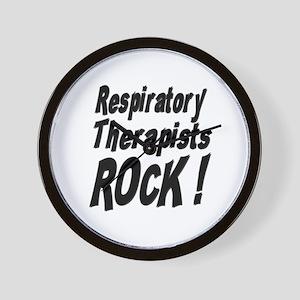 Respiratory Therapists Rock ! Wall Clock