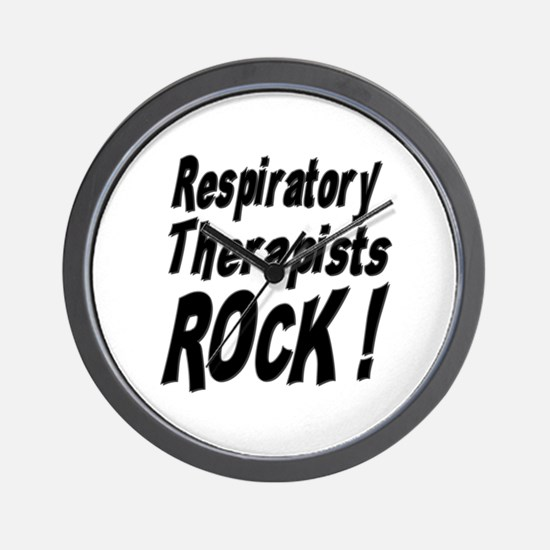 Respiratory Therapists Rock ! Wall Clock